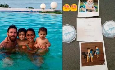 Messi y Antonella bautizaron a sus dos hijos en Rosario