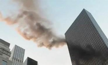 Alarma en Nueva York: se incendió parte de la Torre Trump de Manhattan