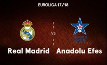 Real Madrid recibe al colista Anadolu Efes por la Euroliga
