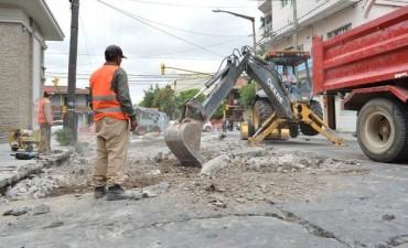 Comenzó la obra de recuperación integral de calle Adolfo Güemes