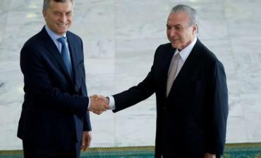 El presiente Mauricio Macri se reúne con el mandatario brasileño Michel Temer