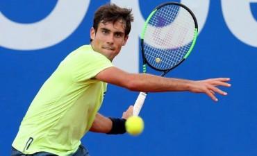 Guido Pella compite en de los cuartos de final del Argentina Open ante  Fernando Verdasco