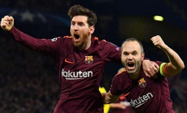 Barcelona festejó el gol de visitante ante el Chelsea