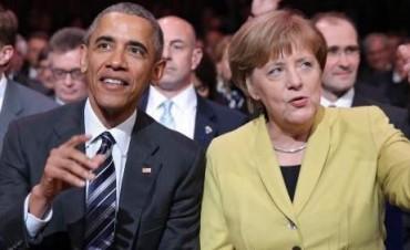Obama, Merkel, Cameron, Hollande y Renzi se reúnen  en Alemania