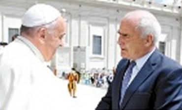 Enrique Meyer con el Papa
