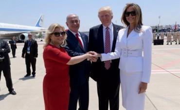 Trump llegó a Israel para reunirse con Netanyahu y los palestinos