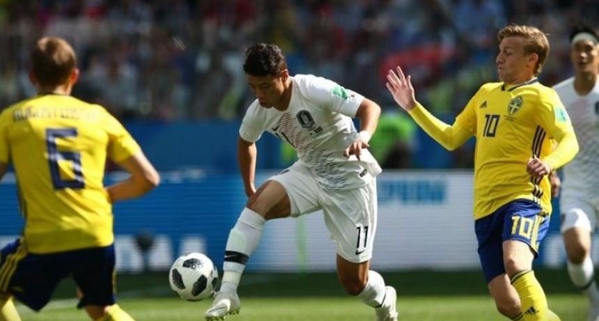 Suecia le ganó 1 a 0 a Corea del Sur