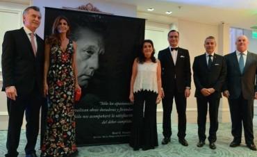 El presidente Mauricio Macri asistió a la cena en homenaje a René Favaloro