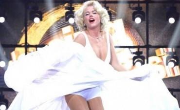 Xuxa  personificó a Marilyn Monroe y fue ovacionada por el público