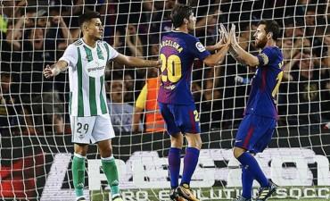 Barcelona venció 2-0 a Betis en la Liga Española