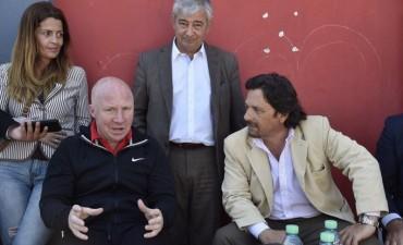 Sáenz y el Colorado Mac Allister se reunieron con dirigentes deportivos