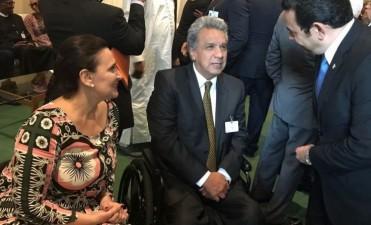 Michetti trató con la primera ministra May políticas contra la esclavitud