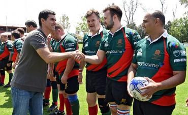 Urtubey saludó a los equipos de rugby de los Parlamentos de Argentina y Gran Bretaña