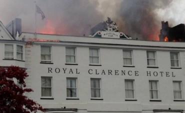 Se incendió el hotel más antiguo de Inglaterra