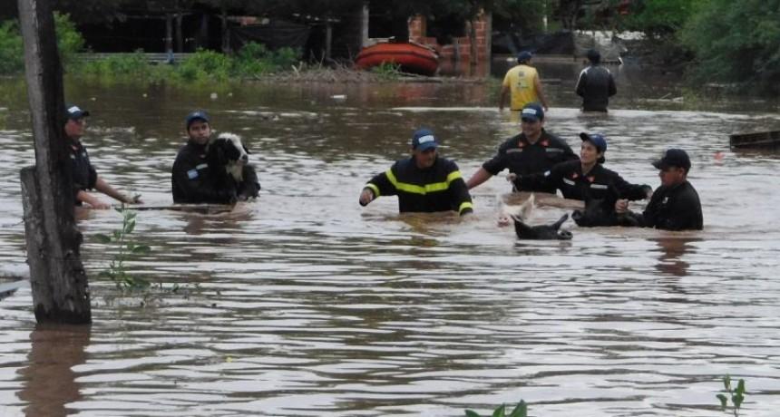 Evacuaron a unas 400 personas en Apolinario Saravia
