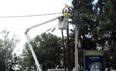 La Provincia mejora las condiciones lumínicas en diferentes puntos de acceso a la ciudad