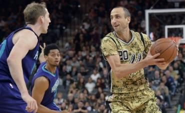 NBA: Ginóbili marcò tres triples seguidos en la victoria de los Spurs