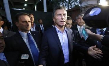 Macri tuvo que irse de Olivos sin hablar con la prensa