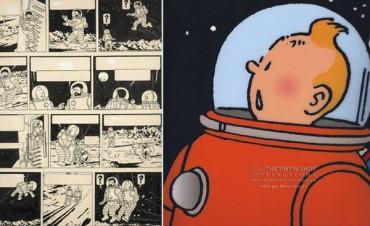 Una página de un comic de Tintín, vendida a 1,55 millones de euros