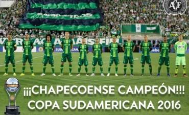 Conmebol proclama campeón de la Sudamericana 2016 a Chapecoense