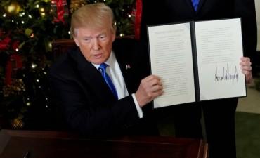 Trump: Estamos aceptando lo obvio,Jerusalén es la sede del Gobierno de Israel