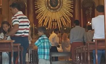 Florencia Peña bautizo a su hijo en Salta