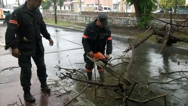 Pese al fuerte temporal, no se registraron inconvenientes irreversibles en la ciudad