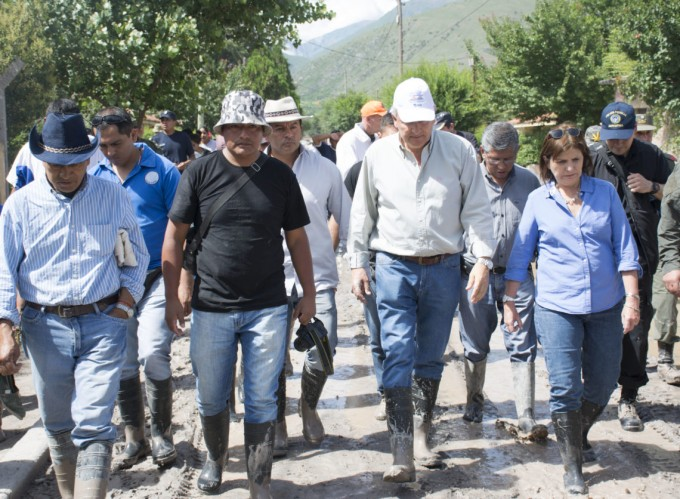 Bullrich recorrió las zonas afectadas por el temporal en Jujuy