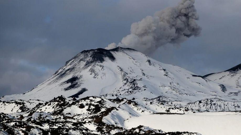 Explosión de un volcán en la región del Ñuble, Chile