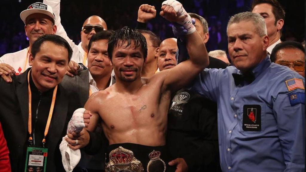 Manny Pacquiao revalidó su título del peso welter