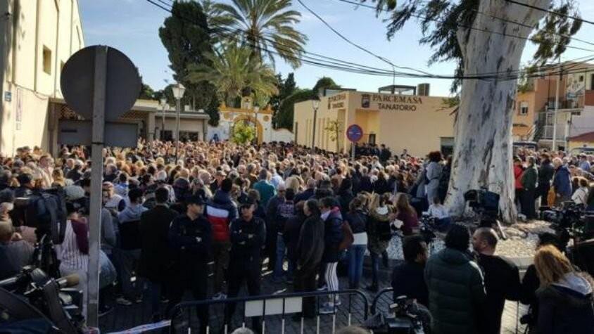 El último adiós a Julen en Málaga