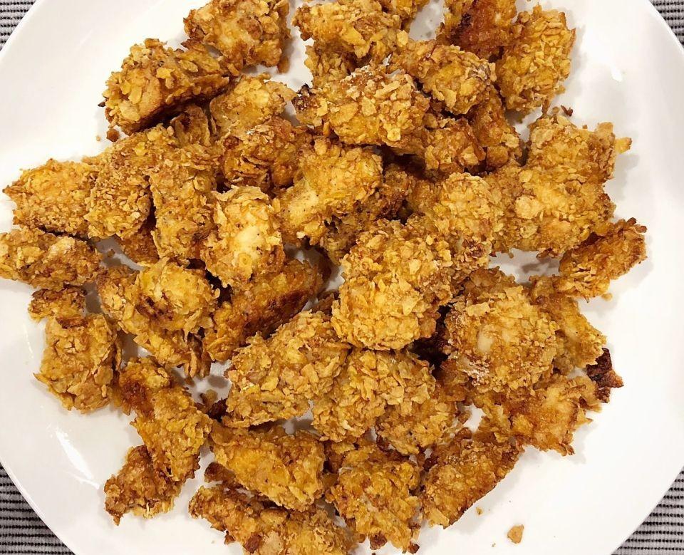 Filetes de pollo empanizados con nueces