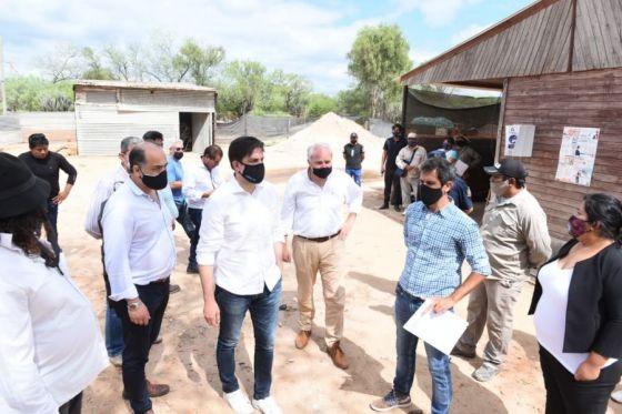Nicolás Trotta y Matías Cánepa recorrieron obras en el norte provincial