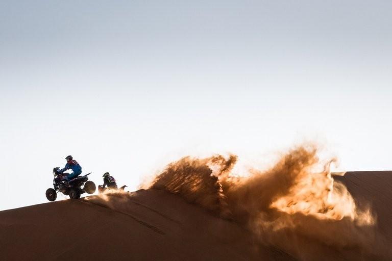 Manuel Andújar en cuatriciclo se subio al podio del Dakar 2021