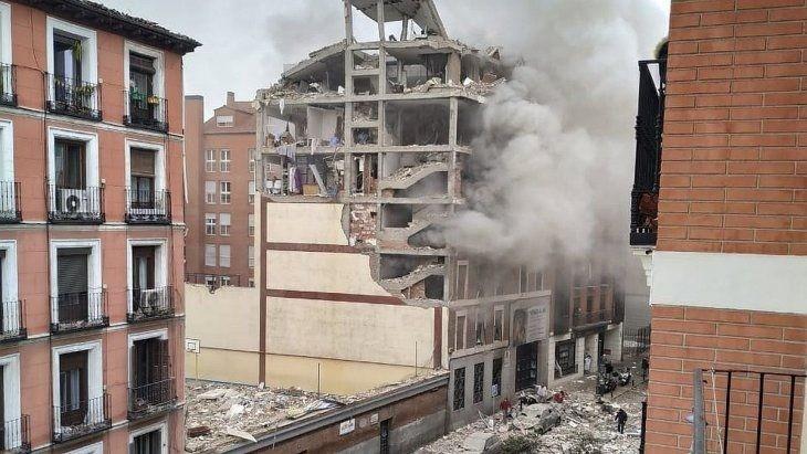 Madrid: una fuerte explosión destruyó un edificio
