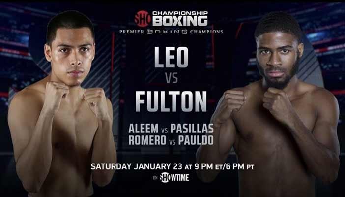 Angelo Leo vs Stephen Fulton encabezan velada en SHOWTIME