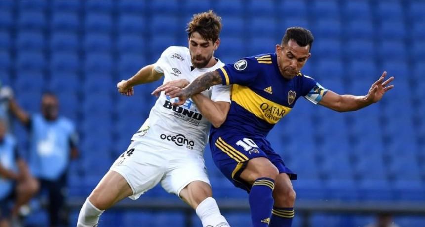 Boca igualó sin tantos frente al Santos en la Bombonera