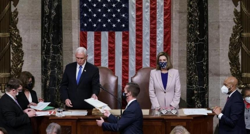 EEUU: el Congreso oficializó el triunfo de Joe Biden