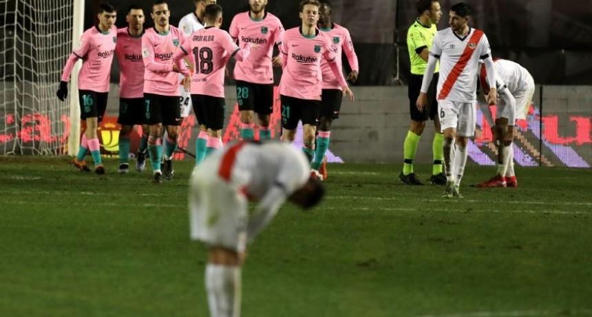 Barcelona derrotó a Rayo Vallecano por los octavos de final de la Copa del Rey
