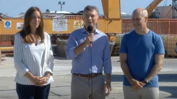 Macri encabezó acto en Dock Sud