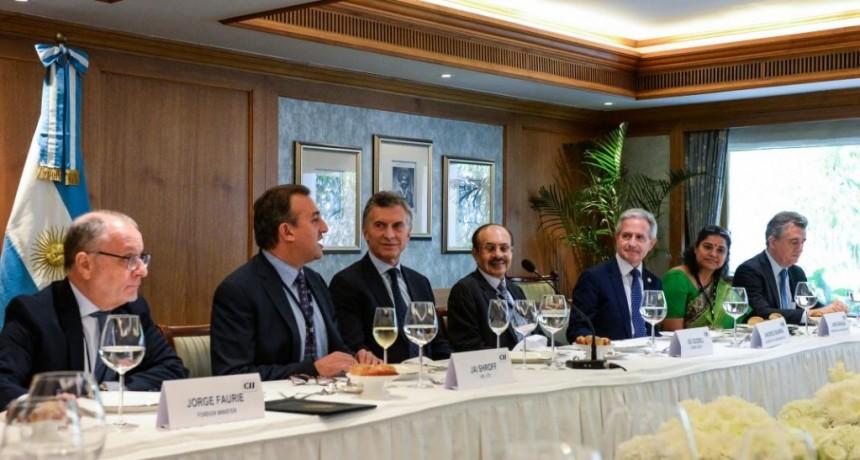 Macri disertó en el Foro de Negocios en Mumbai