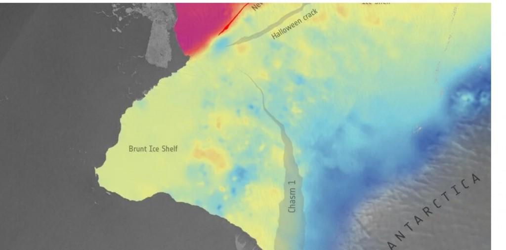 Inminentes desprendimientos masivos en un frente de hielo en la Antártida