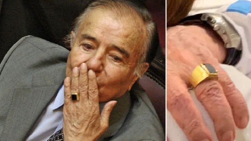 Carlos Menem: investigan el robo del anillo