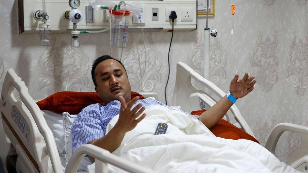Aashish Ranjit superviviente dice que la aeronave se incendió tras el choque