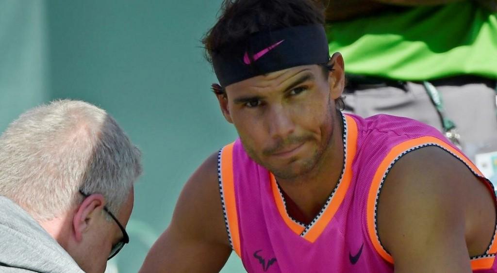 Rafael Nadal se bajó de Indian Wells