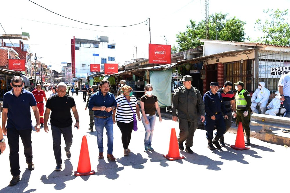 El gobernador Sáenz controló el operativo de seguridad fronteriza en Salvador Mazza