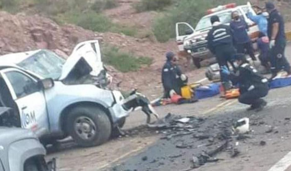 Cafayate: Dos muertos tras el choque de camionetas
