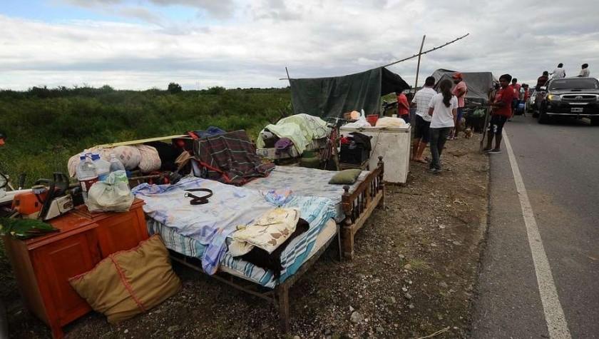 Un pueblo quedó bajo el agua y fue evacuado por completo en Tucumàn