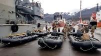 El buque Islas Malvinas se sumó a tareas de asistencia en Comodoro