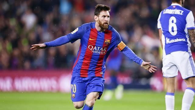 Barcelona venció a Real Sociedad con dos gritos de Messi, el primero un golazo